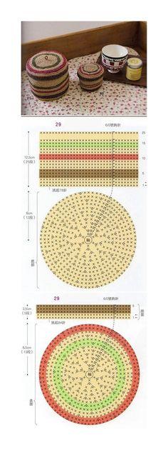 Ideas For Crochet Bag Free Diagram Charts Crochet Box, Crochet Diagram, Crochet Round, Crochet Purses, Crochet Chart, Love Crochet, Crochet Stitches, Knit Crochet, Crochet Patterns