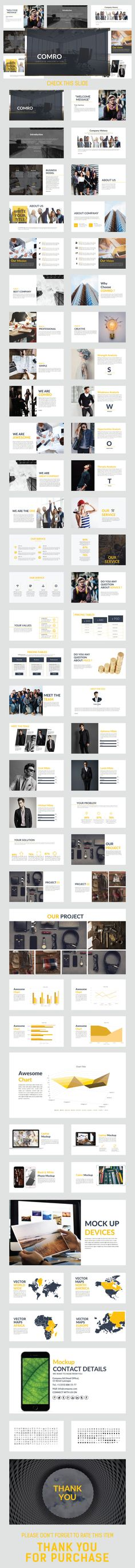 COMRO #Keynote Template - Business Keynote #Templates Download here: https://graphicriver.net/item/comro-keynote-template/19577676?ref=alena994