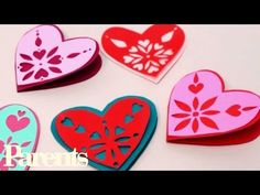 Snowflake Valentine Cards   Project kid