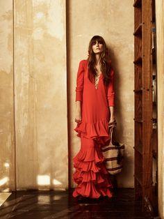 Johanna Ortiz red dress