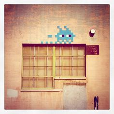 Invader street art in Los Angeles (instagram photo by David Gutierrez)