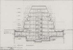 Justus Dahinden Zurich, Architecture, Opera House, Centre, Floor Plans, Architectural Drawings, Modernism, How To Plan, Landscape