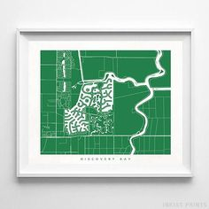 Discovery Bay, California Street Map Wall Art Poster - 70 Color Options - Prices from $9.95 - Click Photo for Details - #streetmap #map #homedecor #wallart #DiscoveryBay #California