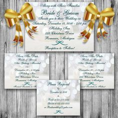 PRINTABLE WEDDING INVITATION Winter Wedding by ChangingArtitudes