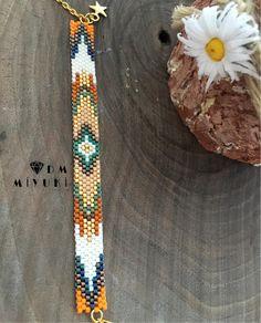 off loom beading techniques Loom Bracelet Patterns, Bead Loom Bracelets, Bead Loom Patterns, Jewelry Patterns, Beading Patterns, Beaded Earrings, Beaded Jewelry, Peyote Beading, Colorful Bracelets