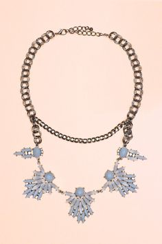 Cute Crystal Statement Necklace in Grey #uoionline #fashion #trendy