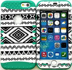 """myLife Stylish Design and Layered Protection Case for iPhone 6 Plus (5.5"""" Inch) by Apple {Turquoise Blue """"Island Tribal Heritage Finish with Kickstand"""" Three Piece SECURE-Fit Rubberized Gel} myLife Brand Products http://www.amazon.com/dp/B00PV5GMZ6/ref=cm_sw_r_pi_dp_uG2Cub1FBDH4N"""