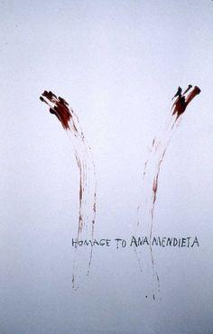 Nancy Spero Homage to Ana Mendieta 1993