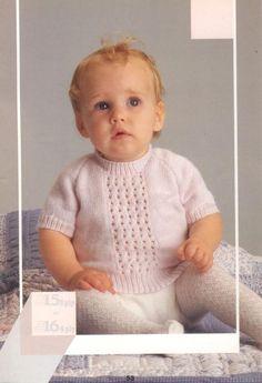 Patons 792 10 Baby Knits Patterns - Free Baby Knitting Baby Knitting Patterns Free Newborn, Baby Cardigan Knitting Pattern Free, Kids Knitting Patterns, Jumper Patterns, Knitting For Kids, Free Knitting, Knit Baby Sweaters, Knitted Baby Blankets, Baby Knits