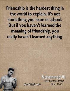 Muhammad Ali Friendship Quotes | QuoteHD