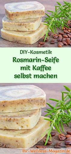 Rosmarin-Seife mit Kaffee selbst machen – Seifen-Rezept & Anleitung Make soap – soap recipe: make your own rosemary soap with coffee – rosemary and coffee are popular remedies for problem skin and cellulite … Diy Easy Soap Making, Cellulite, Coffee Soap, Homemade Soap Recipes, Recipe Instructions, Home Made Soap, Natural Cosmetics, Slime, Diy Beauty