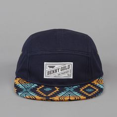 Benny Gold Native 5 Panel Cap Navy ($20-50) - Svpply  yes pllease