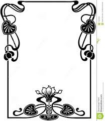 Risultati immagini per art nouveau floral patterns stencil designs
