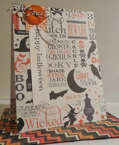 Love this simple, but bold Halloween card! The DSP shines here! A Paperie Journey: Seize The Sketch & Cards For Hospitalized Kids