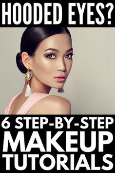 Learn how to apply eye makeup for hooded eyes with 6 tutorials that are packed with step-by-step tips to get the perfect cut crease, dome shape, soft smokey socket, and winged eyeliner. Perfect for Asian eyelids and Jennifer Lawrence lookalikes! Dramatic Eye Makeup, Eye Makeup Steps, Dramatic Eyes, Asian Eye Makeup, Natural Eye Makeup Step By Step, Soft Eye Makeup, Subtle Makeup, Dewy Makeup, Full Makeup