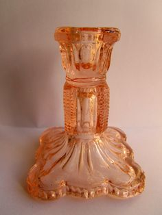 Vintage Candlestick candle stick pink candle by TheDorothyDays, £6.00