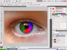 Photoshop CS5 Rainbow Eye Colour Tutorial #photoshop #tutorial #photoshoptutorials #tutorials #tuts #photoshoptutorial