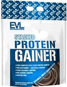 Evlution Nutrition Stacked Gainer Best Mass Gainer, Universal Nutrition, Fast And Slow, Whey Protein Powder, Skinny Guys, Protein Supplements, Plant Protein, Protein Sources, Chocolate Flavors