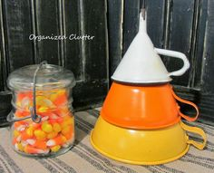 Re-purposed Funnels to Candy Corn