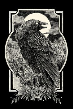 by Diego Andrade Crow Art, Raven Art, Dark Art Illustrations, Illustration Art, Satanic Art, Dark Artwork, Arte Cyberpunk, Arte Obscura, Occult Art