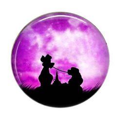 Cabochon résine ombres rond 25mm 11 belle et le clochard Image Digital, Celestial, Lady And The Tramp, Room, Animaux, Paint