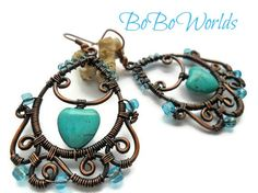 Hey, I found this really awesome Etsy listing at https://www.etsy.com/listing/270866577/turquoise-earringswire-wrapped-earrings