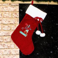 53d22cfc9e8 Felt Stitch Robin My 1st Christmas Stocking Christmas Ideas
