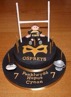 Ospreys rugby cake