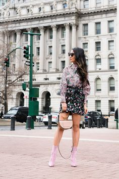 Spring trends 2018 - florals! And moreover, floral print mixing! Personally, I adore this styling. It's fun, whimsical, and happy. Floral tops with floral print skirts. What I think is key to creating a harmonious print mixing combination is the color story. A cohesive color palette anchoring on a few colors.