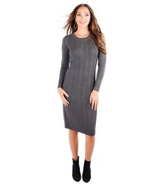 Cable Car dress in Chive Green by Downeast