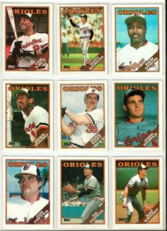 1988 Topps baseball lot of nine Baltimore by brianssportscards