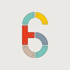 Today's character - 6 @36daysoftype #36daysoftype #36days_6 #madebyand #huddersfield #yorkshire #typography #design by and_studio