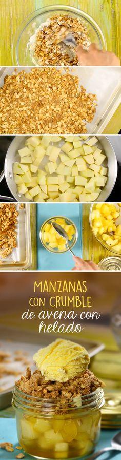 Postre fácil de manzanas horneadas con helado de vainilla para disfrutar cualquier día de la semana. Sírvelo caliente y llévatelo a donde vayas para compartir con los amigos.