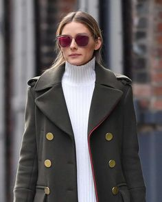 THE OLIVIA PALERMO LOOKBOOK Olivia Palermo Lookbook, Olivia Palermo Style,  Green Coat, Love 4b10b79d77c2