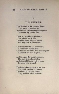 """Poem: """"The Bluebells"""" - by Emily Brontë. Beautiful Poetry, Beautiful Words, The Words, Poem Quotes, Life Quotes, Qoutes, Poems About Stars, Star Poems, Emily Bronte Quotes"""