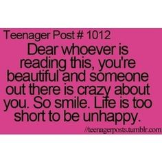 Amen! SMILE JESUS LOVES YOU! Be you! That's the best you can be! YOU is my favorite you :) so BeYOUtiful!