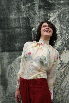 Camicia manica lunga di seta modello Giulia.