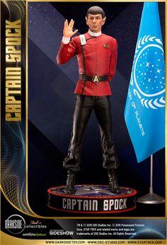 Exclusive Leonard Nimoy as Captain Spock Scale Museum Statue Star Trek Ii, Star Wars, Paramount Pictures Logo, Captain Spock, Kobayashi Maru, Leonard Nimoy, William Shatner, Free Girl, Uss Enterprise