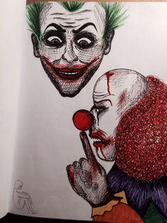 Drow, drowing, derpdrow, art, artist, artmood, artlife, drowlife, Joker, clown