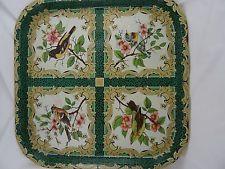 Vintage Daher Decorated Ware Square Metal Tray w/ Birds, England