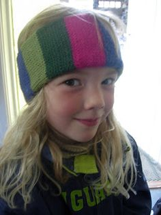 #Bond USM machine knit from norwegianknitter: Sideways knitted headband