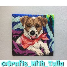 Puppy perler beads by crafts_with_talia