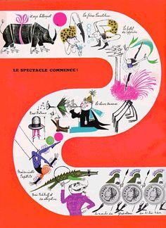 "(Papirotto and Nandoru) ""Nandor et Papillote""   painting / work Noelle Lavaivre published Hachette 1958"