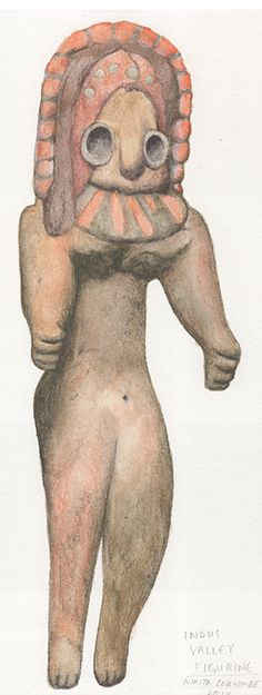 #IndusValley #FertilityFigure painted by #NikitaCoulombe