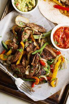 The BEST Steak Fajitas - made with 1 secret ingredient to make them tender and delicious! BETTER than your favorite restaurants! #steakfajitas #fajitas #bestfajitas #cincodemayo   Littlespicejar.com