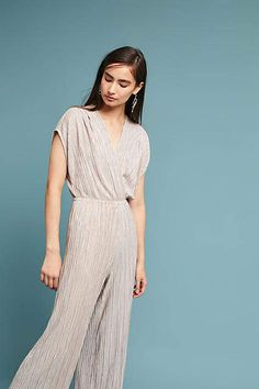 a6e158893603 Porridge Clothing Pleated Metallic Jumpsuit Romper  anthrofave  anthrolove   rompers  jumpsuits