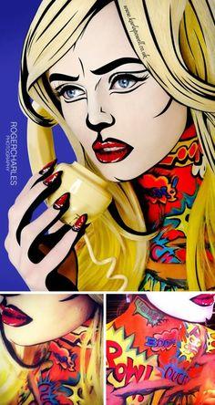 amazing work of makeup artist Karla Powell for her Pop Art inspired make-up series
