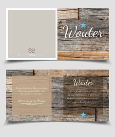 Cool boy birth announcement card wood / Stoer Geboortekaartje Jongen hout | Jutenjul design