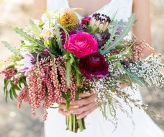 Colorful + textural desert bouquet