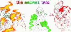 The Secret Trio by Washichan on deviantART